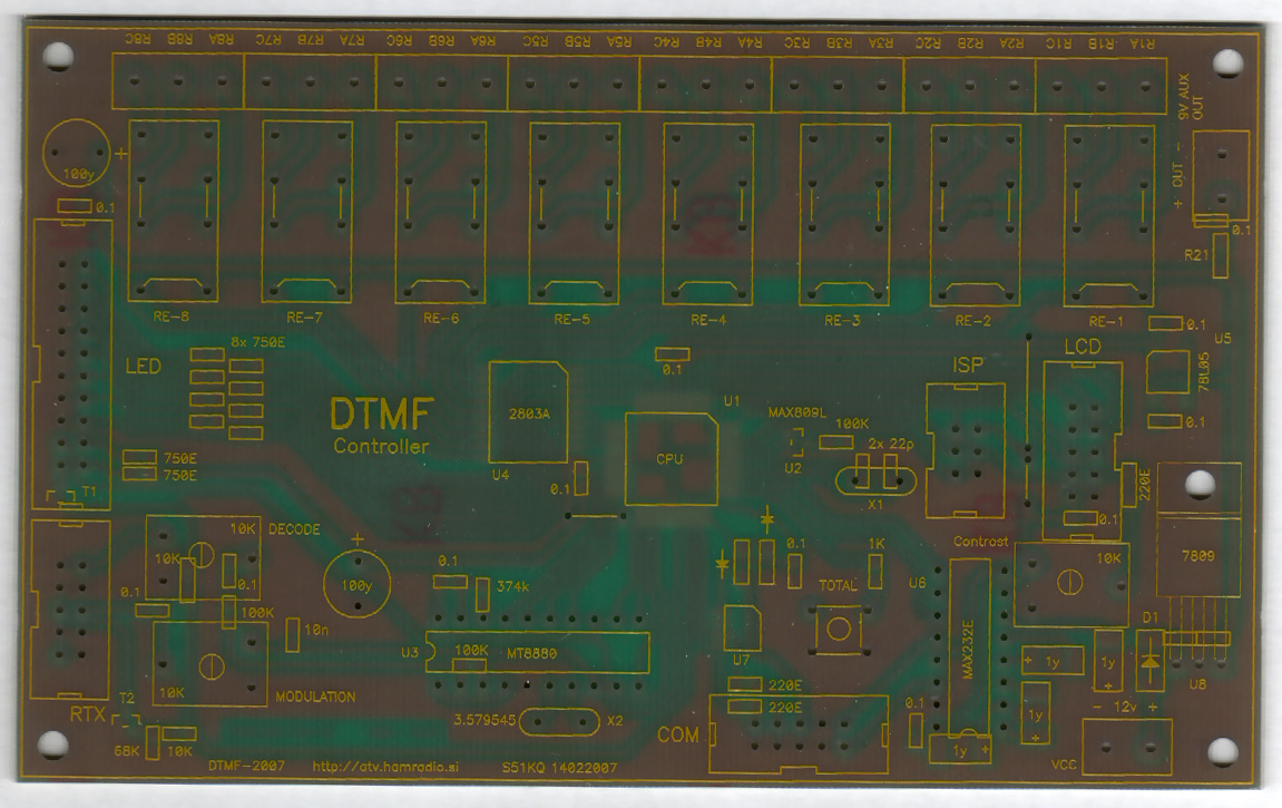 S51kq Hardware Software Dtmf Based Fm Remote Control Circuit Diagram Centre English Programming Manual And Complete Description In Atvs News Bulletin Nr36 To Follow Factory Made Pcbs With Preprogrammed Cpus Available