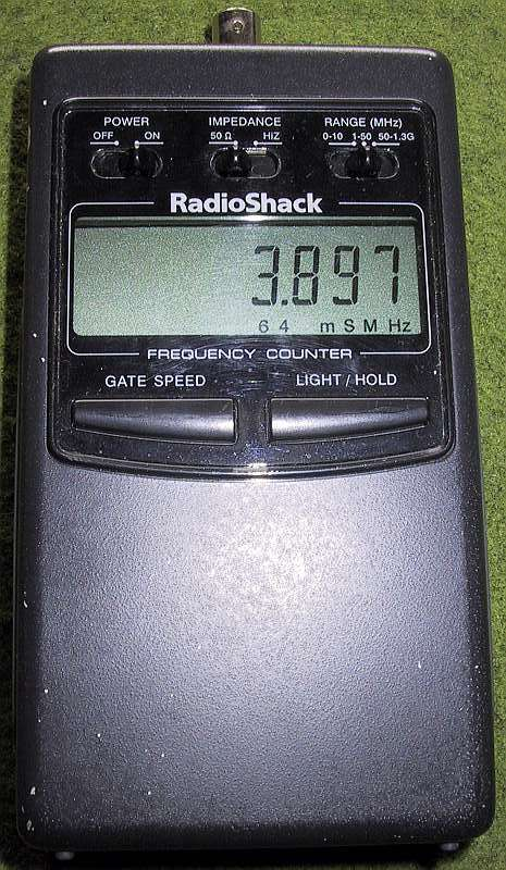 Radio Shack Frequency Counter : S mv counter history