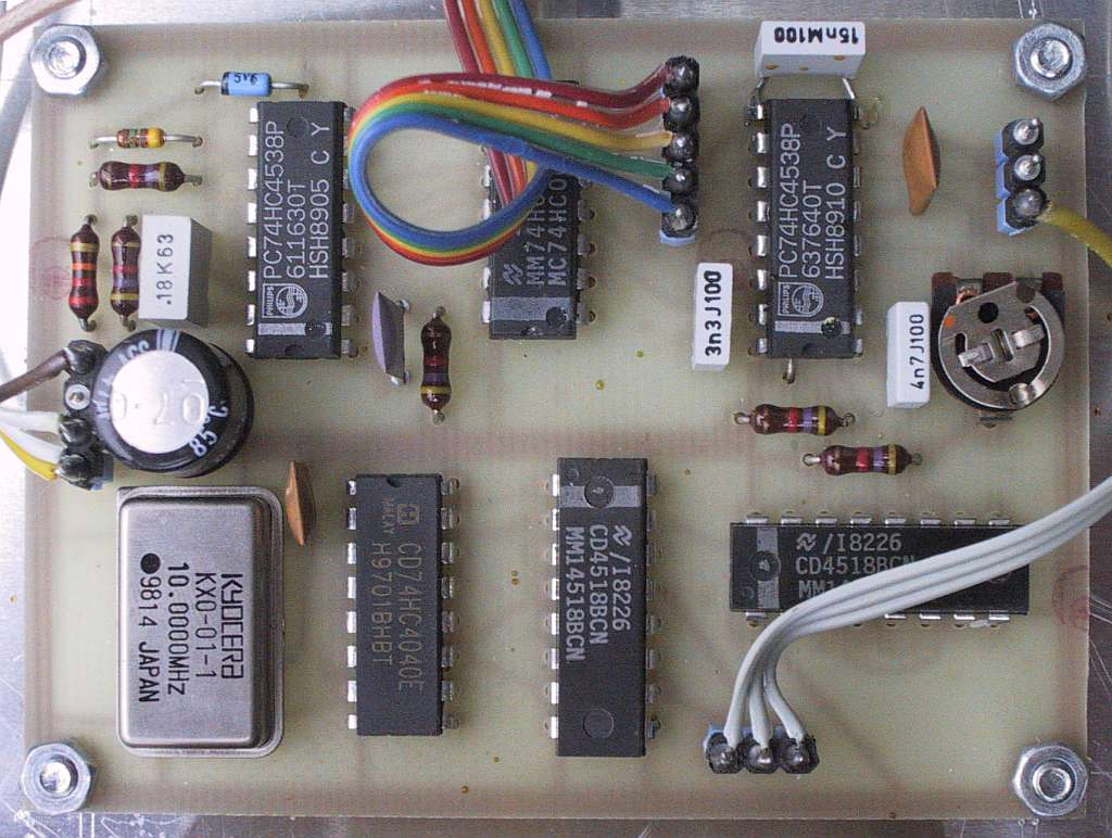Marker Counter For Spectrum Analyzers Power Supply Variable Regulated 5v13v Using Ca3140 Electronic The Microsecond Pulse Starts Time Base By Resetting Flip Flop In Second 4518 Pins 10 11 And 15 Releases Divider