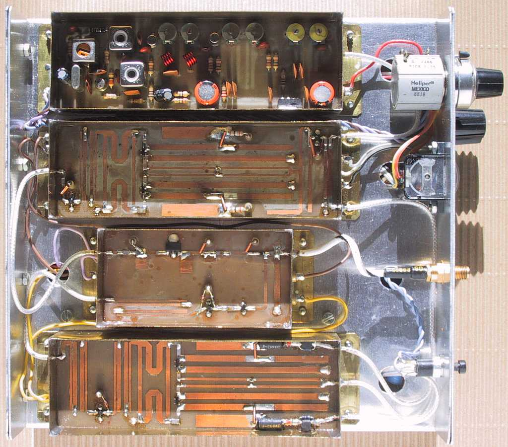 Design Of Zero If Ssb Transceivers Schematic Block Diagram Circuit Satellite Receiver The Remaining Circuits 23cm Transceiver Are Built On Three Microstrip Boards Etched 08mm Thick Double Sided Fr4 Laminate