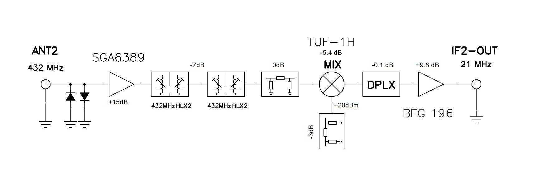 Xvrt Gain Amplifier Circuit Composed Of The Ad7523 Amplifiercircuit Fig2 Base Second Rx Converter Block Diagram