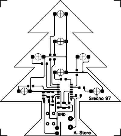 singing christmas tree PCB Design for Icons pcb