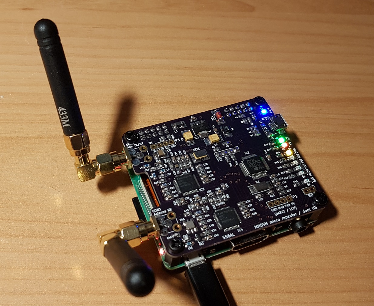 MMDVM MicroRepeater / Dual HotSpot board for RPi by Aleksander Stare